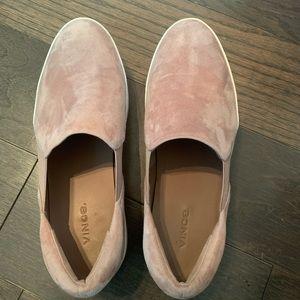 Vince light pink slip on platform sneakers